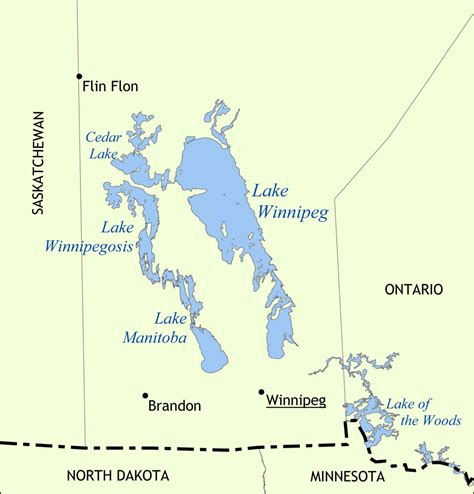 where is winnipeg on the map of canada lake winnipeg