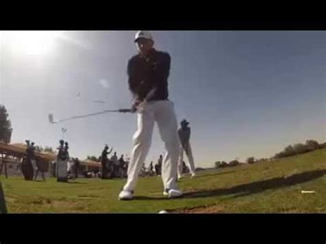 sergio garcia swing slow motion sergio garcia golf swing on practice range slow motion