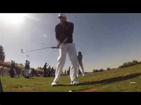 sergio garcia slow motion golf swing sergio garcia golf swing on practice range slow motion