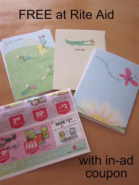 Rite Aid Gift Card - rite aid free american greetings cards money saving mom 174
