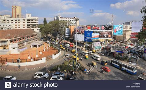 india karnataka bangalore news photo brigade road banglore city at karnataka india stock photo