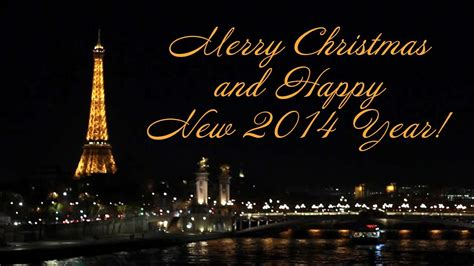 postcard  paris merry christmas  happy  year youtube
