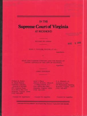Roanoke City Court Records Virginia Supreme Court Records Volume 236 Virginia Supreme Court Records