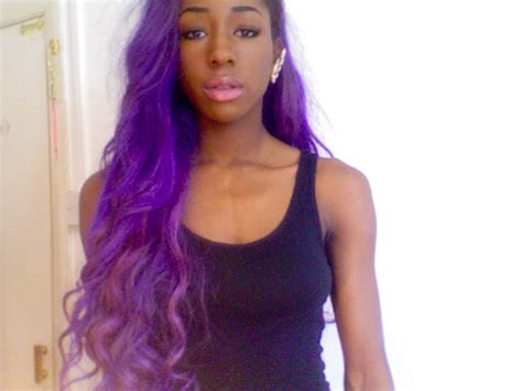 pictures of people who colored their hair with loreal feria b16 purple hair on african american women is beautiful