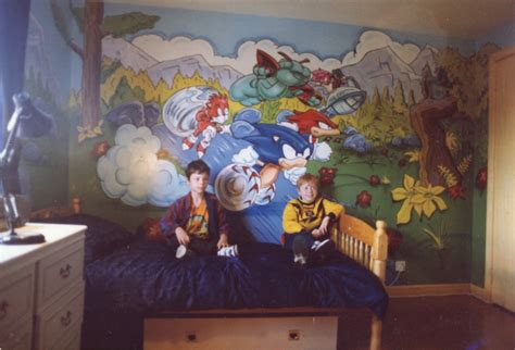 sonic the hedgehog bedroom spoilt children generate amazing sonic murals 187 uk resistance