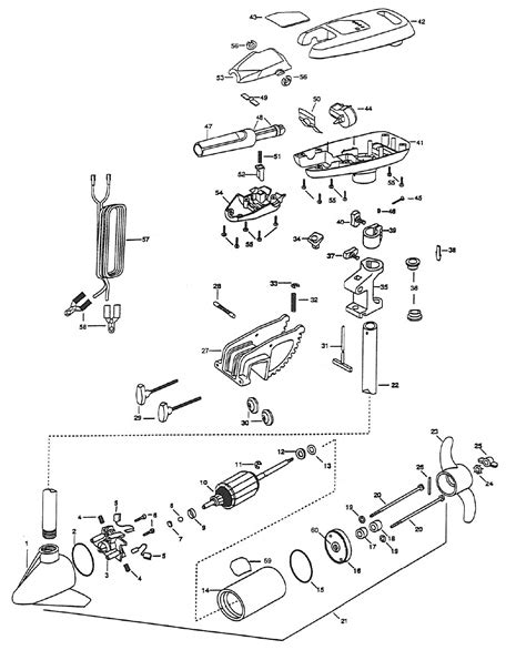 minn kota trolling motor parts diagram minn kota turbo 65 parts 1998 from fish307