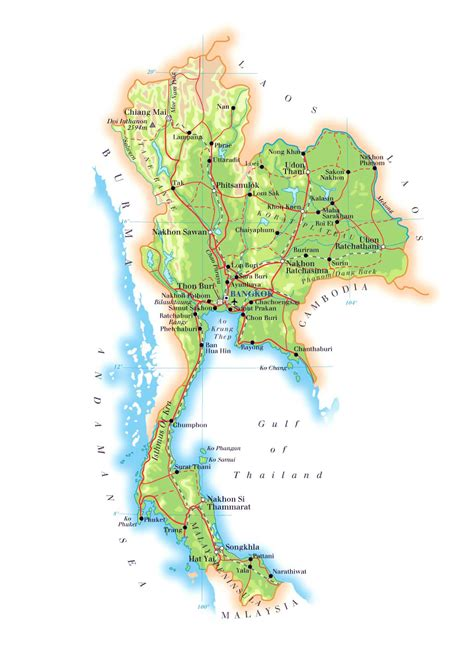 map of thailand maps of thailand detailed map of thailand in