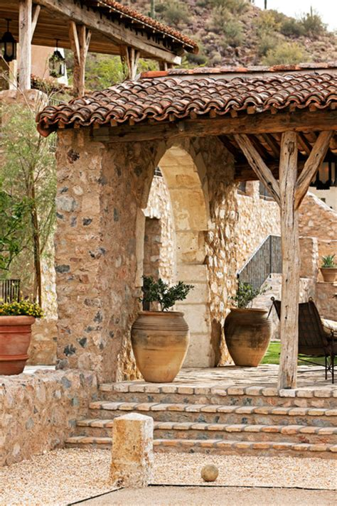 italian home decorations oz architects rustic patio phoenix by don ziebell