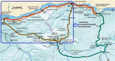 map of oregon i 84 voices of my mind oregon infinity loop painted