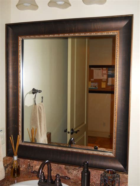framed bathroom mirror ideas mirror frame kit traditional bathroom salt lake city