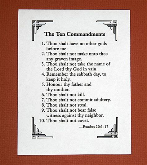 printable list of quotes printable list of 10 commandments below downloads 10