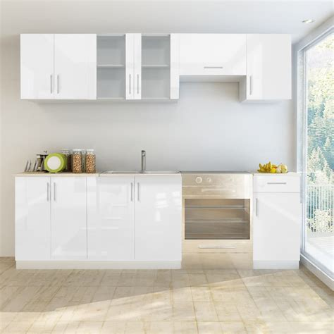 high gloss white cabinets vidaxl co uk 7 pcs high gloss white kitchen cabinet unit