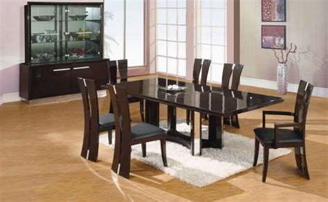 Black Dining Room Furniture Modern Black Dining Room Sets Marceladick