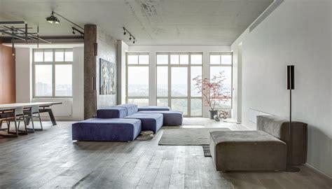 loft apartment design modern loft apartment in kyiv open space minimalist design