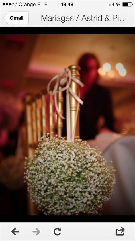chaise boule gypsophiles boule de fleurs d 233 coration de chaise de