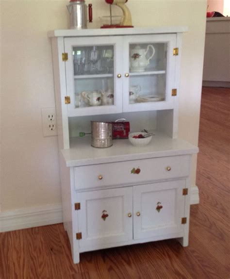 vintage child s play kitchen cupboard hutch wood step