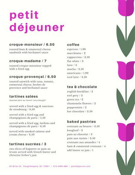 breakfast menu templates by canva