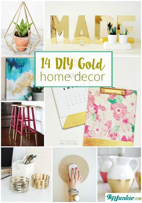 cheap home decor diy 14 diy gold home decor on the cheap tip junkie