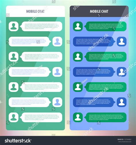 mobile chat mobile chat flat ui design vector stock vector 172764062