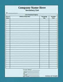 Inventory List Template House Inventory List Template Nice Word Templates