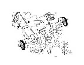 Honda Gcv160 Parts List Poulan Rotary Mower Parts Model Pr55hy21ca Sears