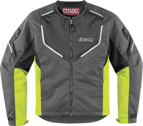 yellow motorcycle jacket icon citadel mesh textile s motorcycle jacket hiviz