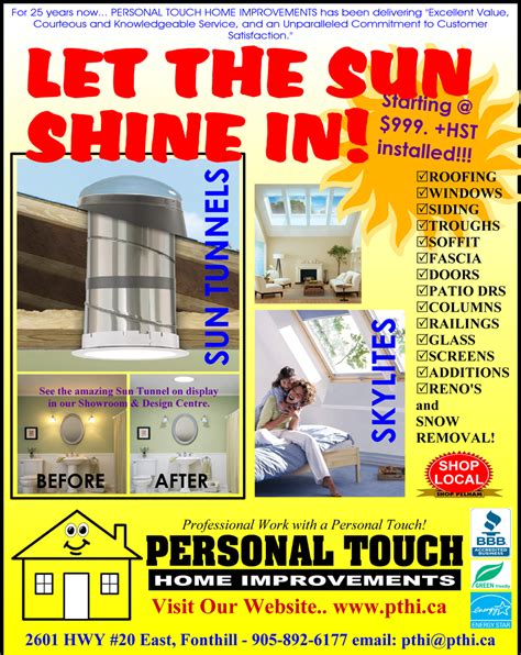 personal touch home improvements niagara s choice