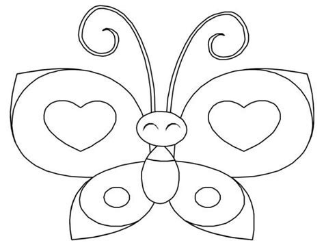 heart butterfly coloring page heart butterfly coloring pages picture 17 rovarok