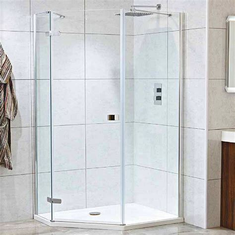 Pentangle Shower by Idyllic 8mm Offset 1200x900mm Neo Angled Pentangle