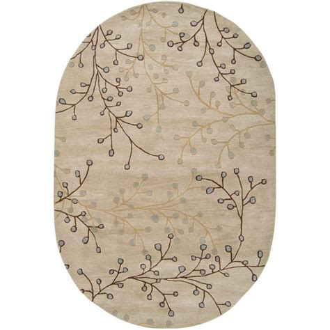 6 x 9 oval area rugs artistic weavers bari ivory 6 ft x 9 ft oval area rug sar 5008 the home depot