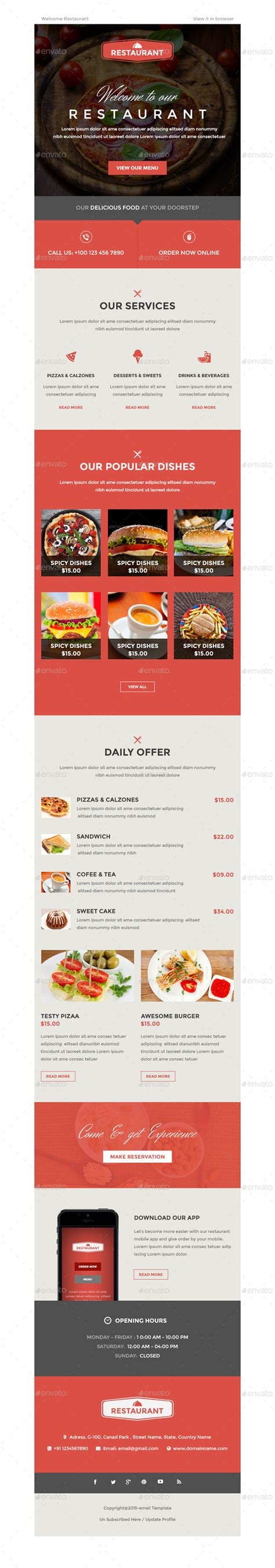 restaurant newsletter template multi purpose e newsletter bundle by kalanidhithemes