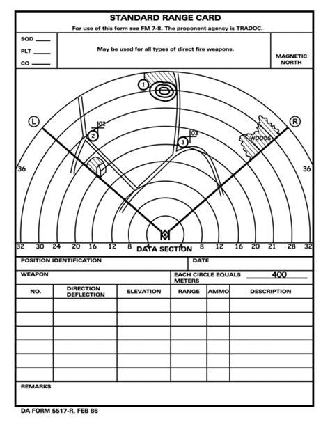 usmc range card template fm 3 21 71 appendix h