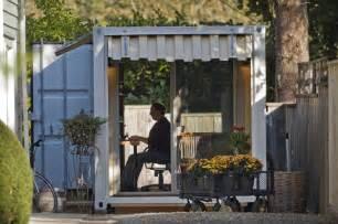 backyard shipping container retreat