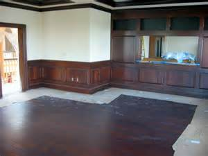 Pictures Of Dining Rooms With Chair Rails - home decorating pictures light wood floors dark trim
