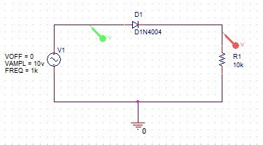 1n4001 diode pspice library pspice를 이용한 간단한 다이오드 diode 정류회로 rectifier circuit simulation 네이버 블로그