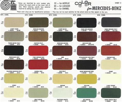 ivory color code mercedes ponton paint codes color charts 169 www