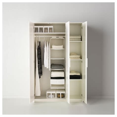 Three Doors by Brimnes Wardrobe With 3 Doors White 117x190 Cm