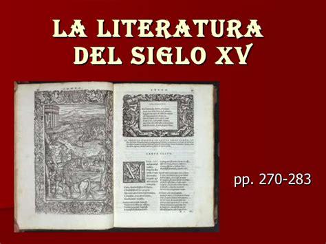 libro poesia lirica del siglo la literatura del siglo xv