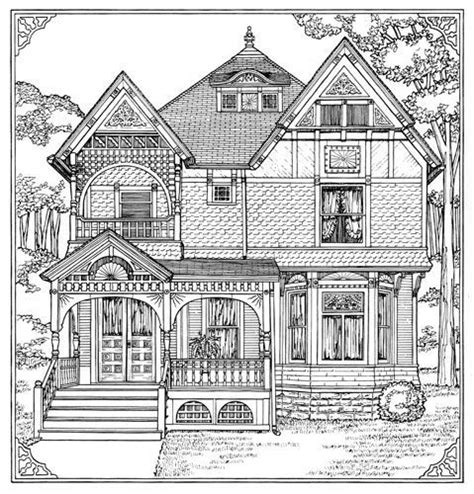 home design coloring book victorian homes coloring pages for adults how to draw