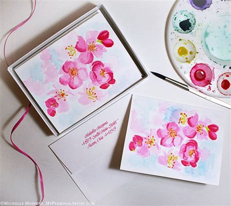Card Painted painted paper note cards custom invitations unique wedding invitations watercolor
