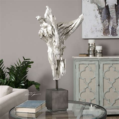 arjan silver driftwood uttermost decorative objects