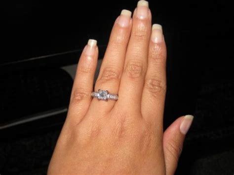 show me your 1 carat princess cut e rings weddingbee