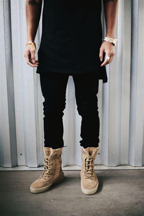 Diskon Adidas Yeezy Crepe Boots Black Season2 yeezy season 2 crepe boot x yzy szn 2 clothing