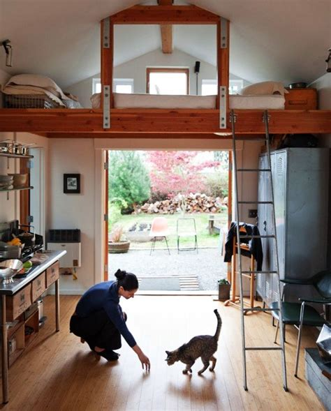 boring garage turned  fancy small home  seattle