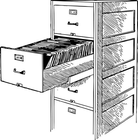 schublade zeichnung open file cabinet 2 clip at clker vector clip