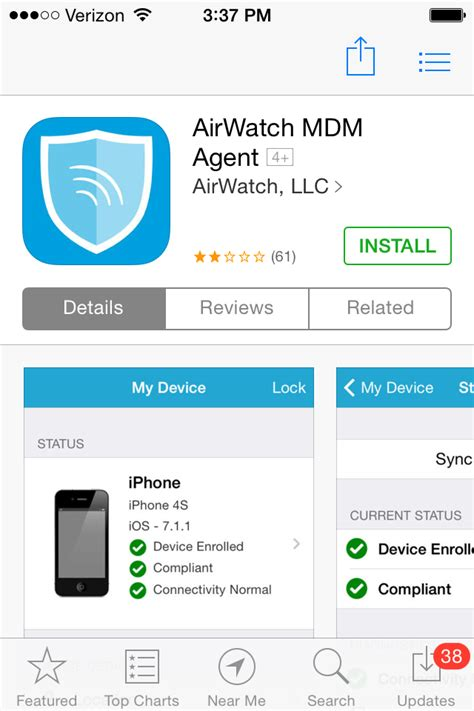 apple mobile device install installing the airwatch mdm on a mobile device