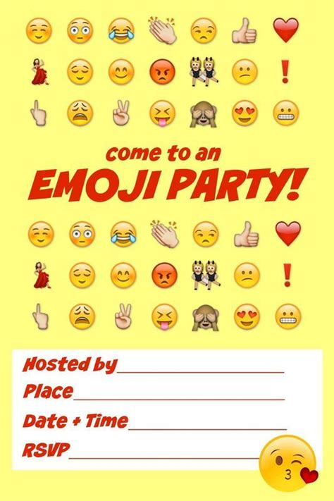 ultimate emoji party idea guide snacks crafts activities  mom party ideas  cool ideas