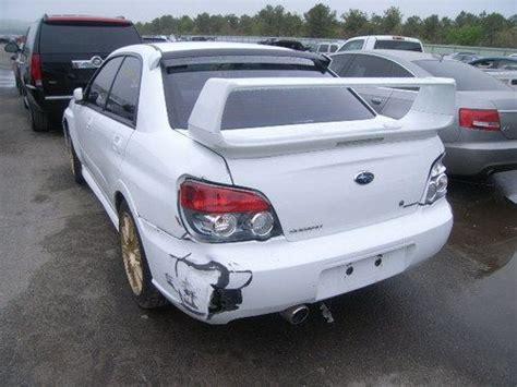 salvage subaru sti for sale buy used 2006 subaru impreza wrx sti clean title damaged