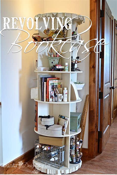 white revolving bookcase revolving bookcase country design style