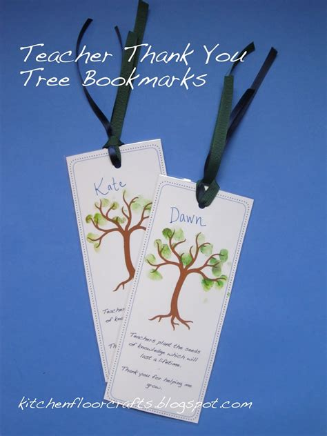 printable bookmarks thank you kitchen floor crafts teacher thank you tree bookmarks